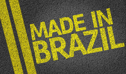 Made in Brazil written on the road