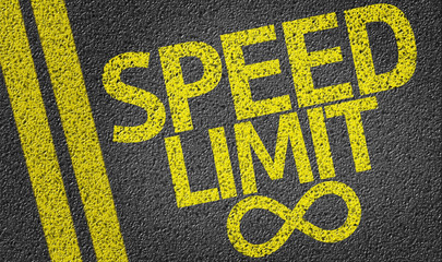 Speed Limit written on the road