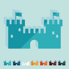 Flat design: fortress