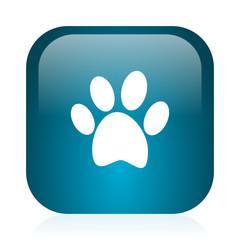 foot blue glossy internet icon