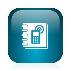 phonebook blue glossy internet icon