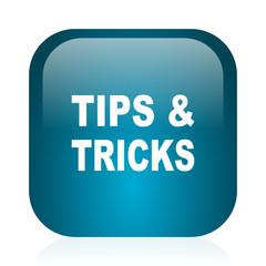 tips tricks blue glossy internet icon