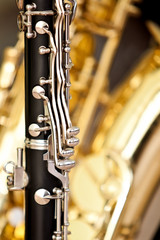 Fragment clarinet closeup