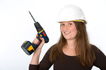 young woman with screwdriver