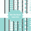 Blue polka dot set 2