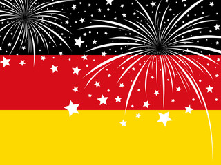 Firework design on germany flag