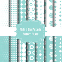 Blue polka dot set 2