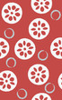 Seamless pattern of lotuses and circles