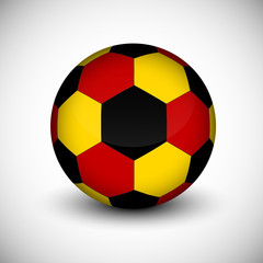 Soccer ball with Germany flag isolated