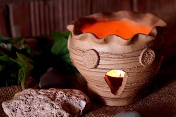Ceramic luminaires. Live fire.