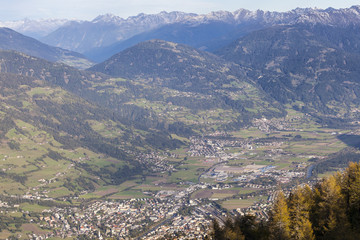 Views over Lienz in Austria