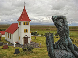 Red Roof church in Iceland