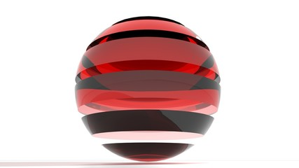 Logo red glass sphere