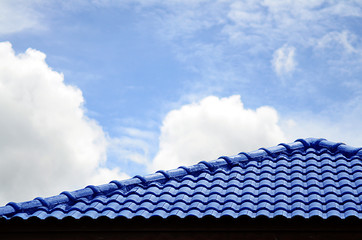 Blue roof and sky