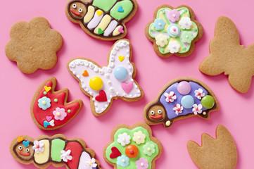 アイシングクッキー 昆虫 クッキー