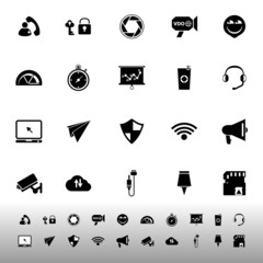 Smart phone screen icons on white background