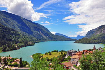 Lake of Molveno, Italy