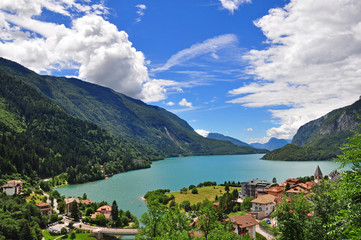 Beautiful view of Molveno lake