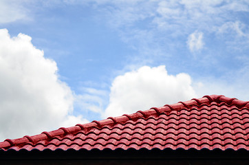 Red roof and sky
