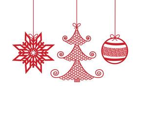 Noël-décoration rouge