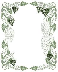 Rahmen, Wein, Weinreben, Weinblätter