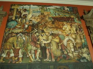 Murales al Palazzo Nazionale 10, Città del Messico