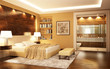 Bedroom with bathroom in a modern style - 67360401