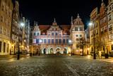 Gdańsk stare miasto nocą - 67360477