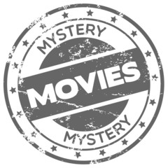mystery movies rubber stamp