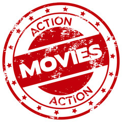 action movies rubber stamp