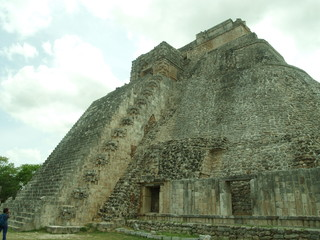 Piramide dell'Indovino, retro, Uxmal, Messico