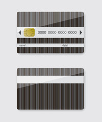Striped credit card illustration