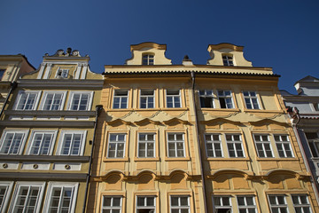Color houses in Prague