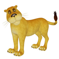 cartoon lioness