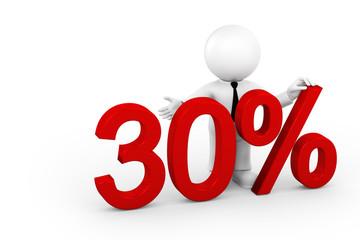 Leistung 30 Prozent