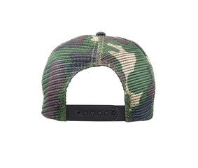 Back view of camouflage cap Isolated on white background