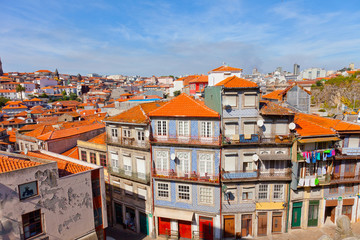 Fishing quarter Ribeira in the city of Porto, Portugal