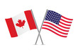 American and Canadian flags. Vector illustration. - 67362463