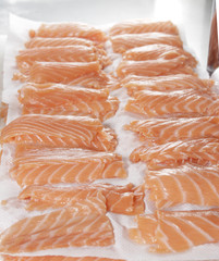 sliced salmon processing