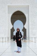 Viste de la Grande Mosquée d'Abu Dhabi