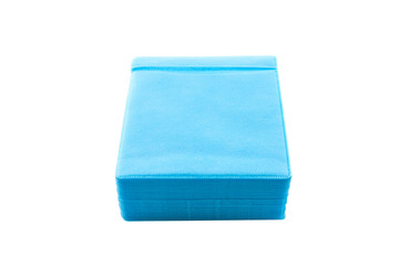 Blue CD paper case.