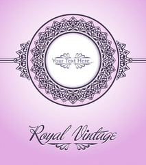 Royal vintage card