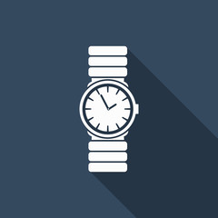 watch icon with long shadow
