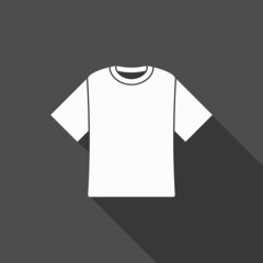 t-shirt icon with long shadow
