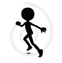 3d man in running pose
