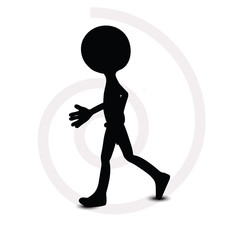 3d man in walking pose