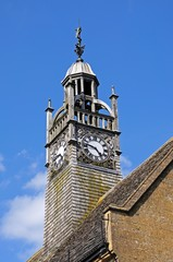 Redesdale Hall decorative clock tower, Moreton-in-Marsh