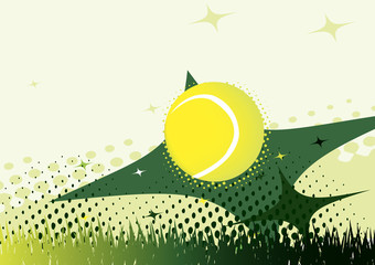 Abstract green tennis background