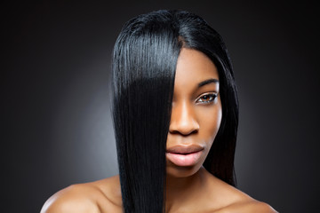 Black beauty with straight hair