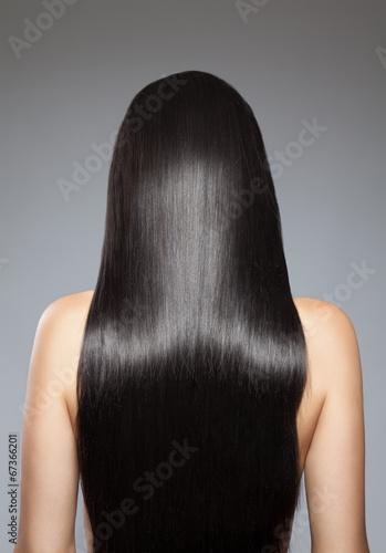 canvas print picture Long straight hair